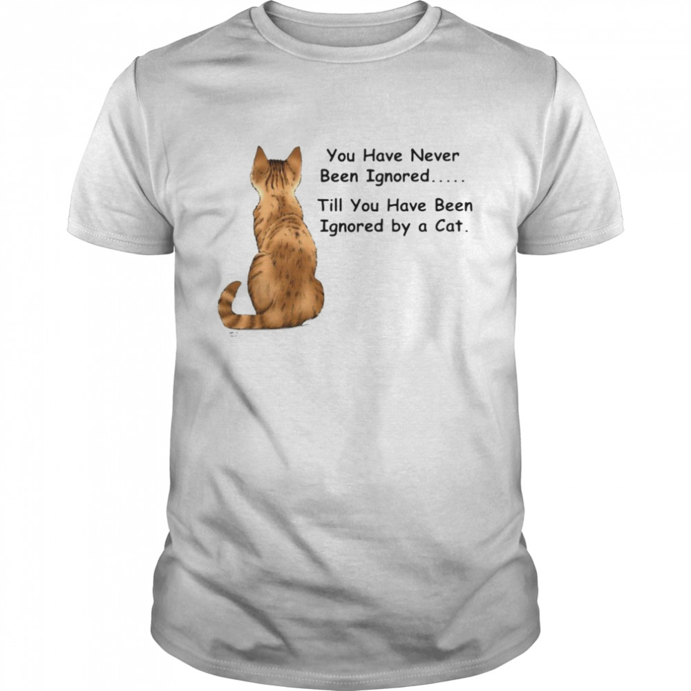 Cat You Have Never Been Ignored Till You Have Been Ignored By A Cat T-shirt Classic Men's T-shirt