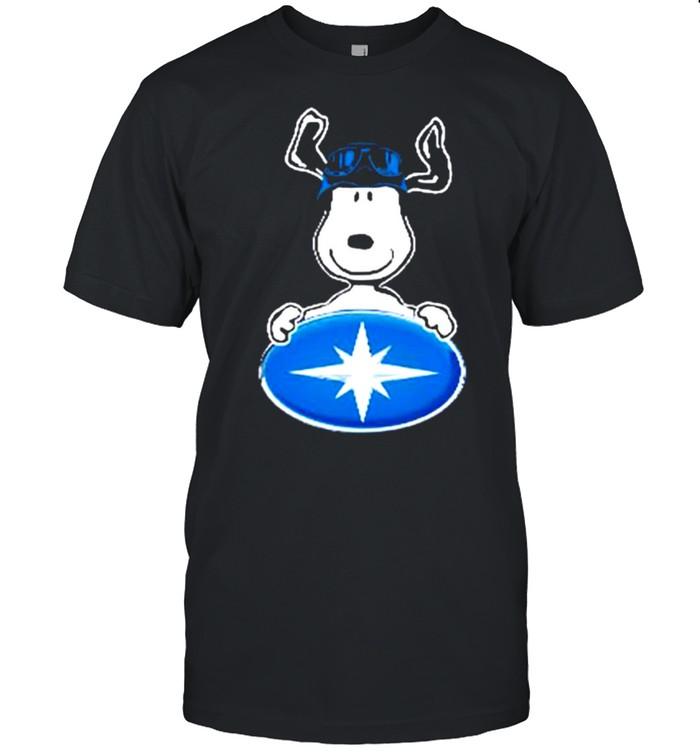 Snoopy hug Polaris Logo shirt Classic Men's T-shirt