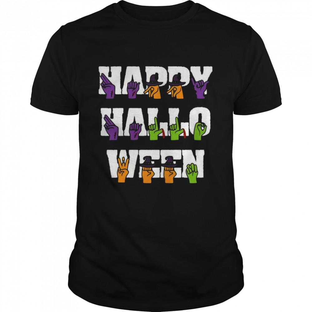American Sign Language Pride Asl Halloween Shirt