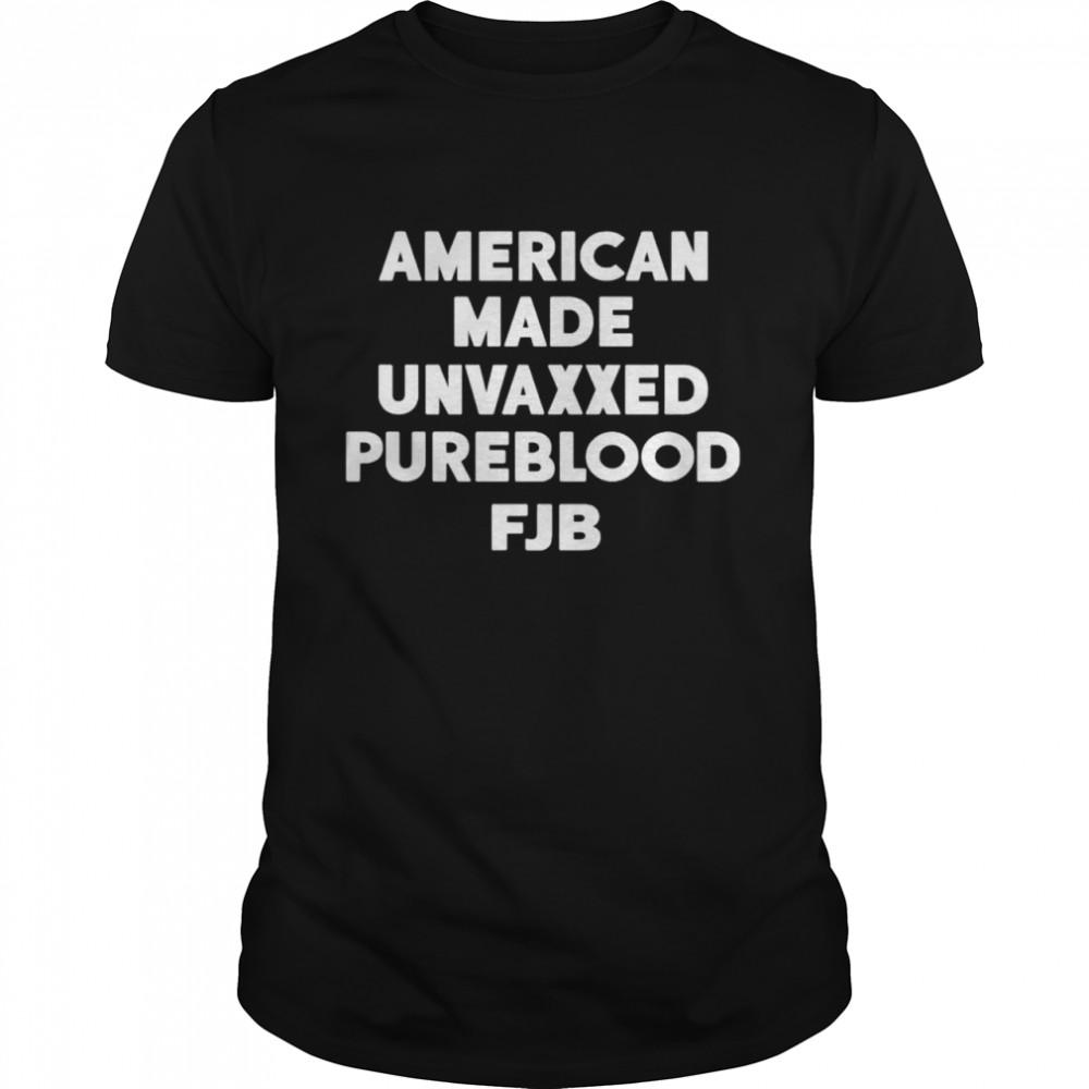 american made unvaxxed pureblood fuck Biden shirt Classic Men's T-shirt