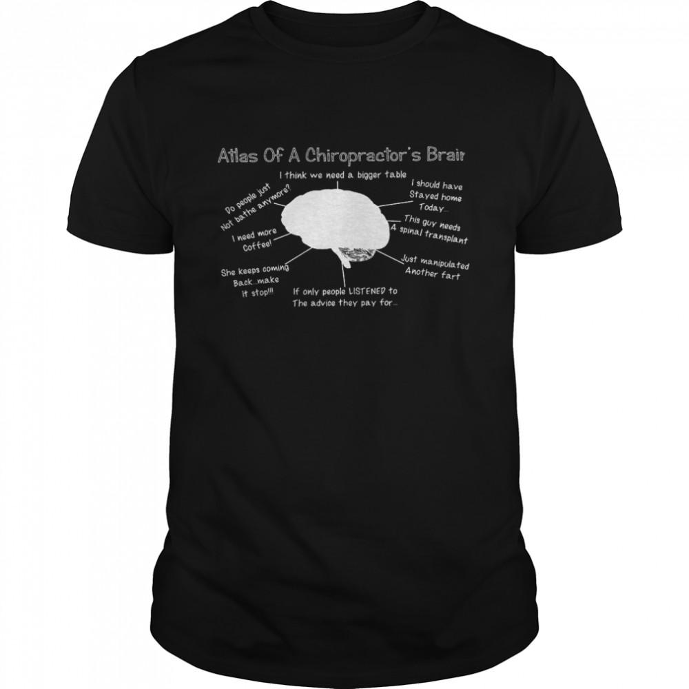 Atlas of a chiropractor's brain shirt Classic Men's T-shirt