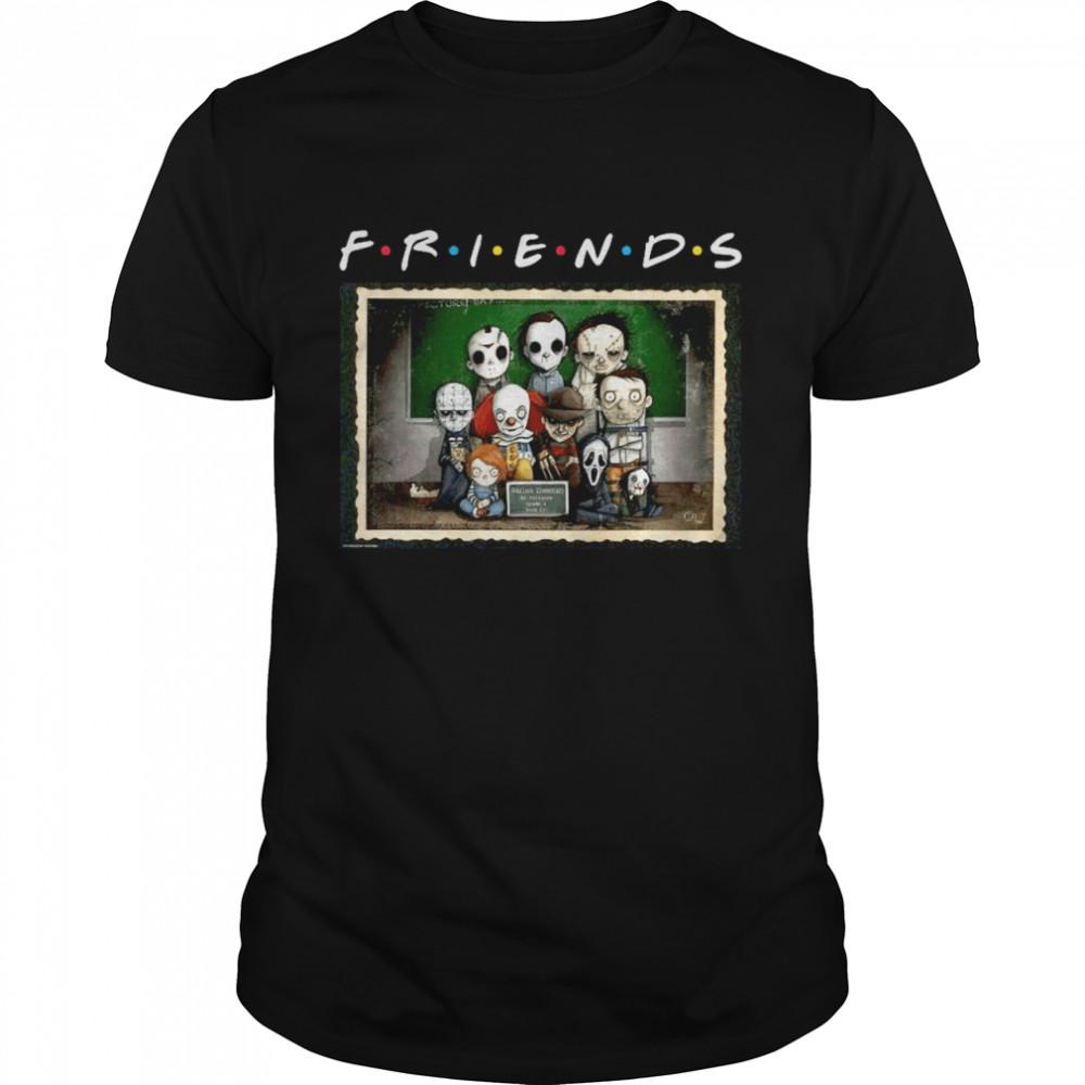 Horror characters chibi friends halloween shirt Classic Men's T-shirt