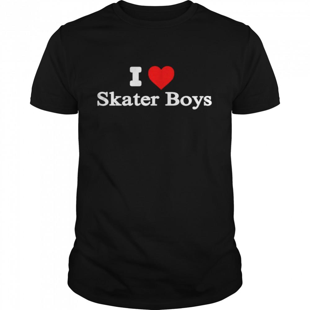 I Heart Skater Boys shirt Classic Men's T-shirt
