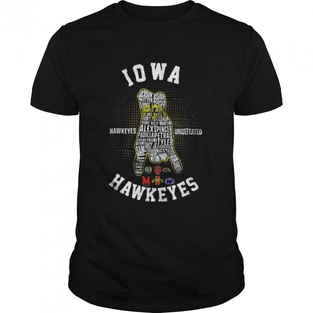 Iowa Hawkeyes Football Hawkeyes Undefeated  Classic Men's T-shirt