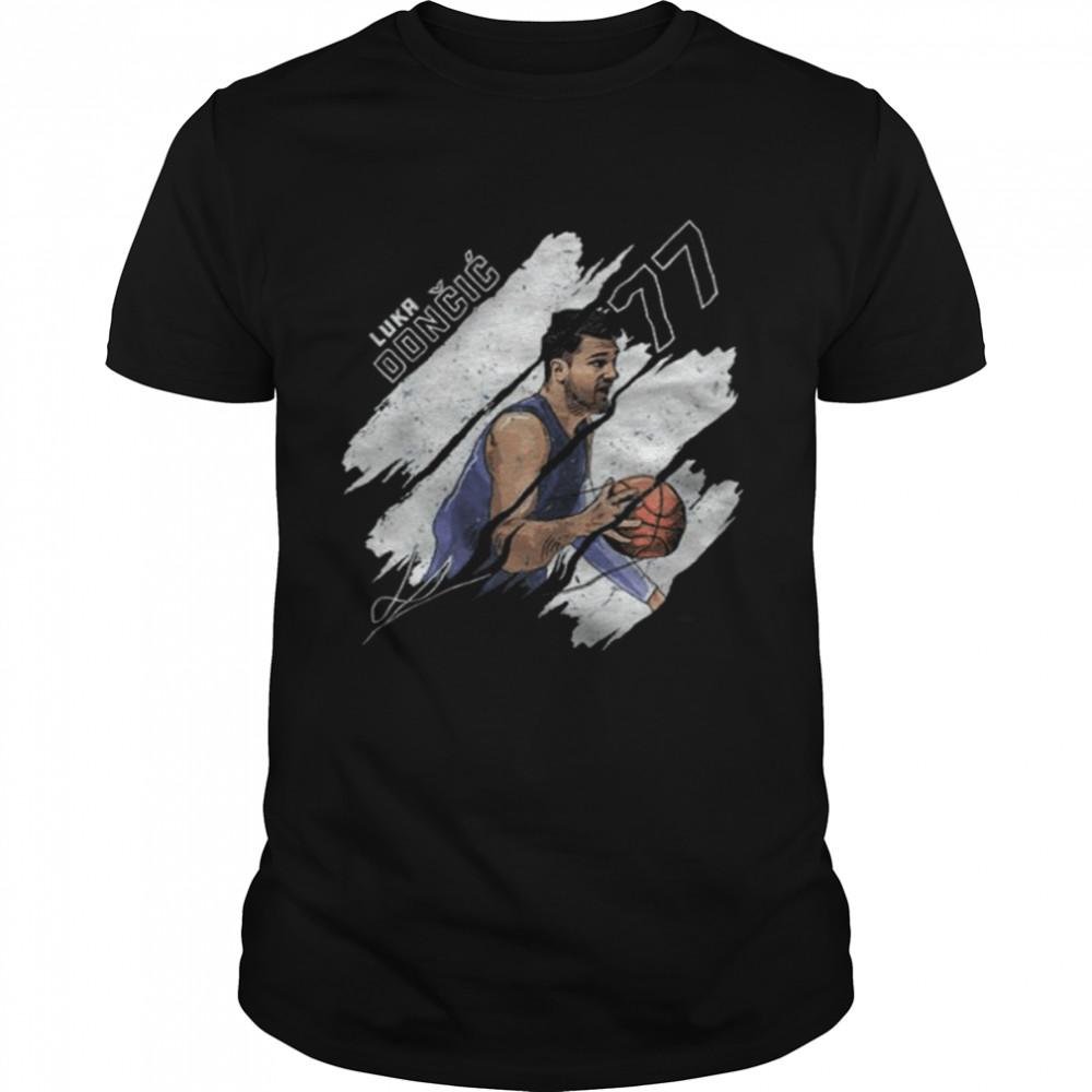 Luka Doncic Stripes Dallas Basketball signature  Classic Men's T-shirt