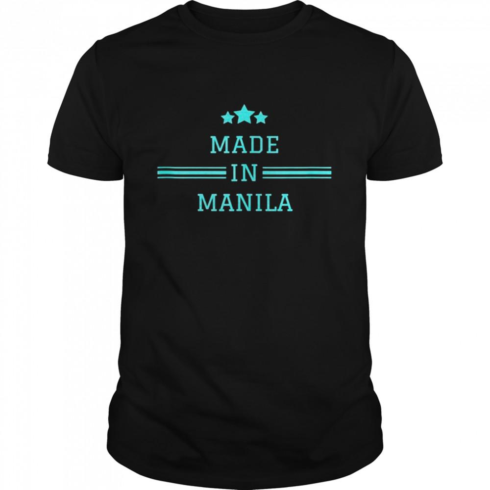 Manila Made In City Of Birth City Pride  Classic Men's T-shirt