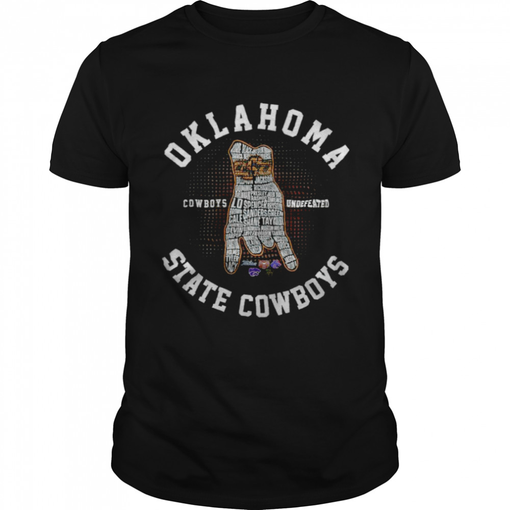 Oklahoma State Cowboys Football Cowboys Undefeated  Classic Men's T-shirt