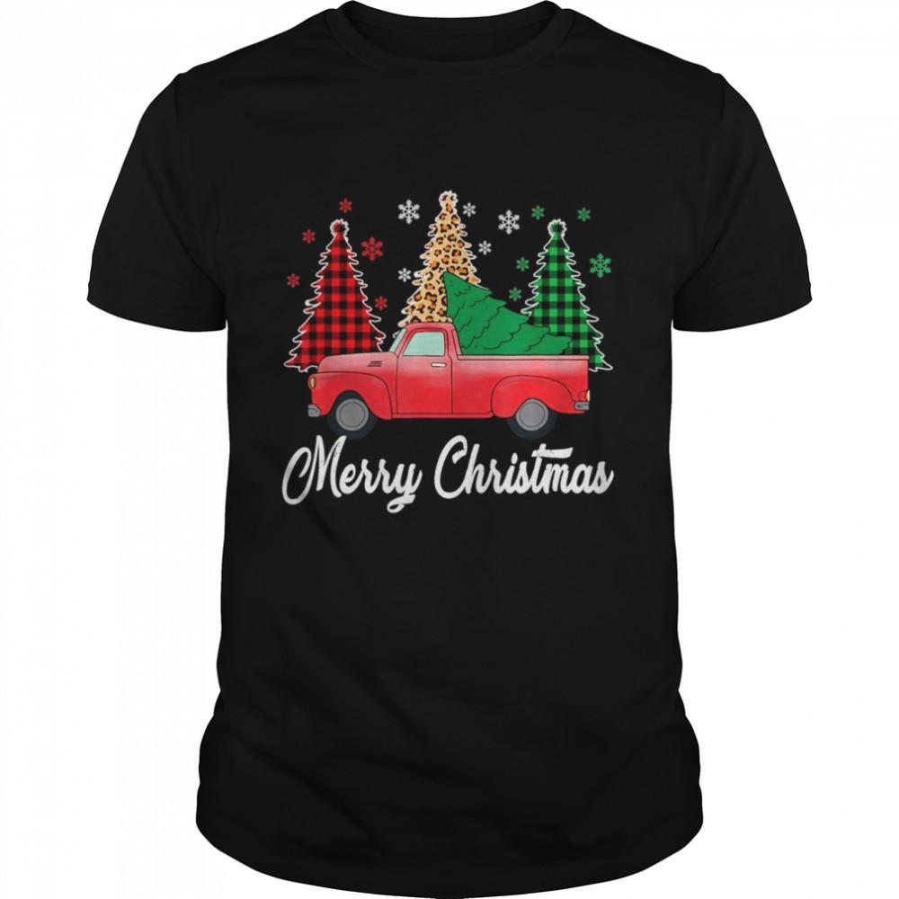 Buffalo Red Plaid Christian Merry Christmas Of The Trip Car Shirt