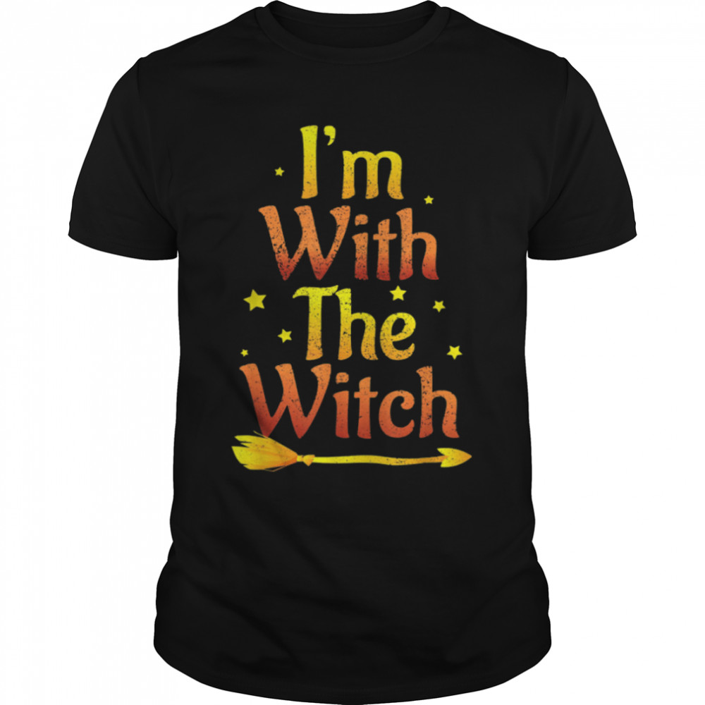 I'm With The Witch Halloween Couple Matching Costume Shirt